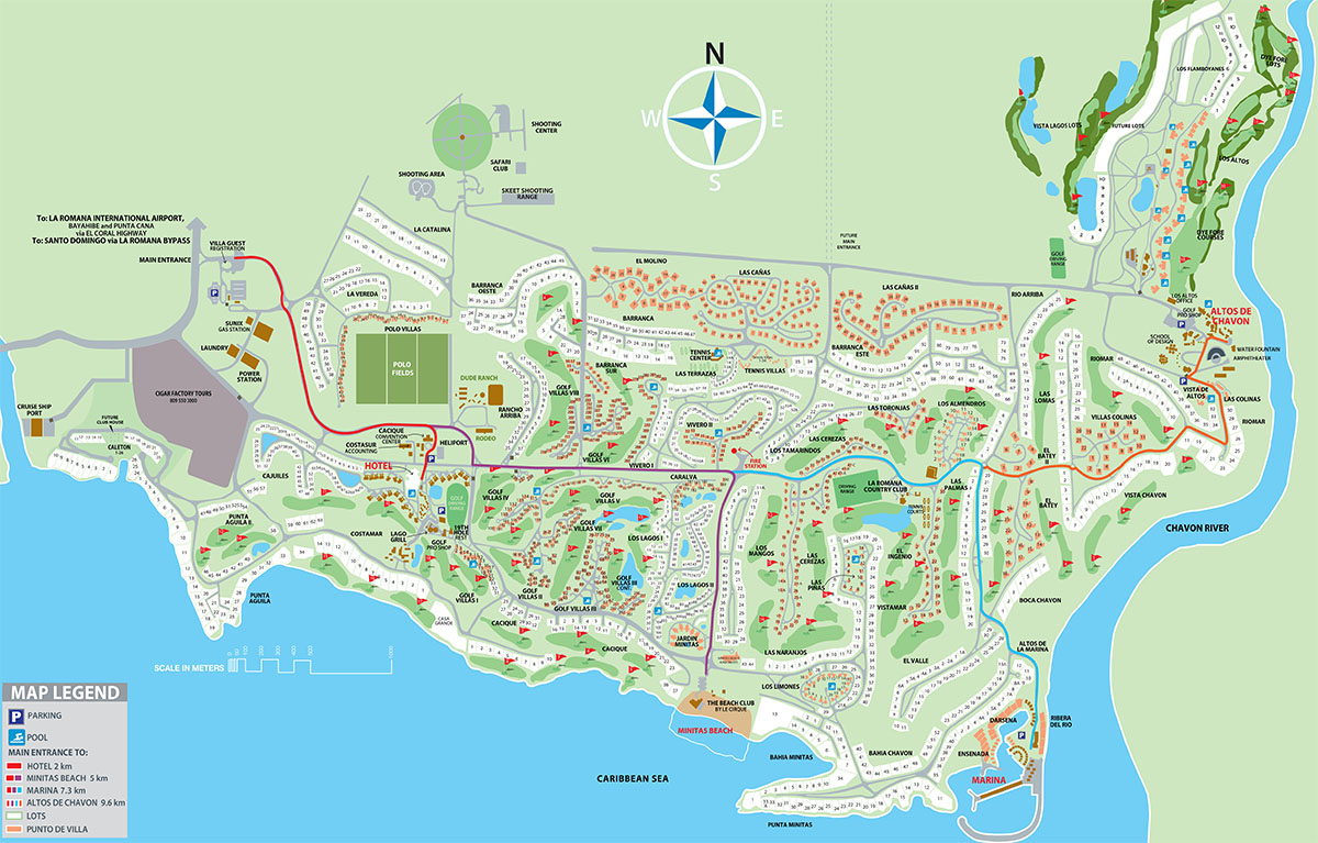 Project map costasur - Plano de la casa de campo ...